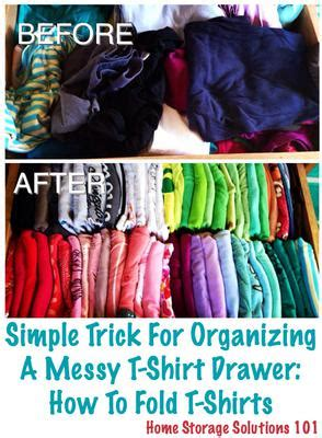Folding Shirts For Drawers by How To Fold T Shirts Simple Trick For Organizing Your