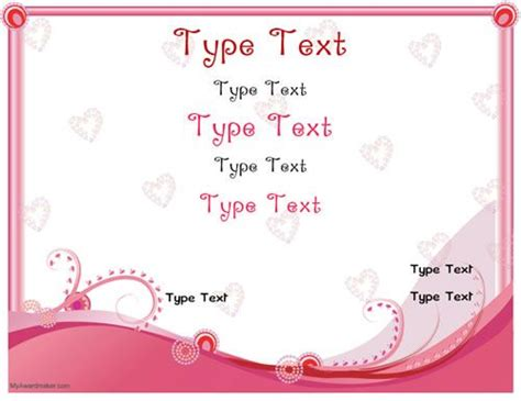 28 valentine certificate templates best photos of