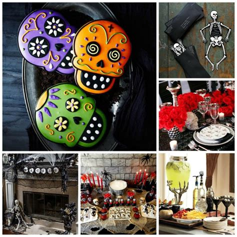 Skull Birthday Decorations by Skeleton And Skull Ideas B Lovely Events