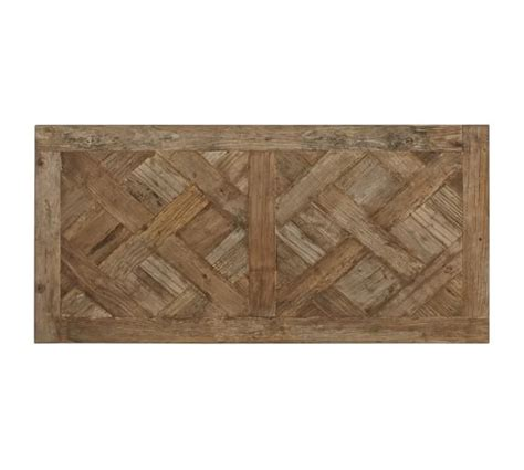 parquet reclaimed wood rectangular coffee table pottery barn