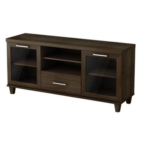 south shore adrian tv stand in matte brown 4909662 the