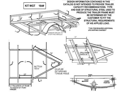 trailer suspension parts diagram build your own utility trailer with chion trailers