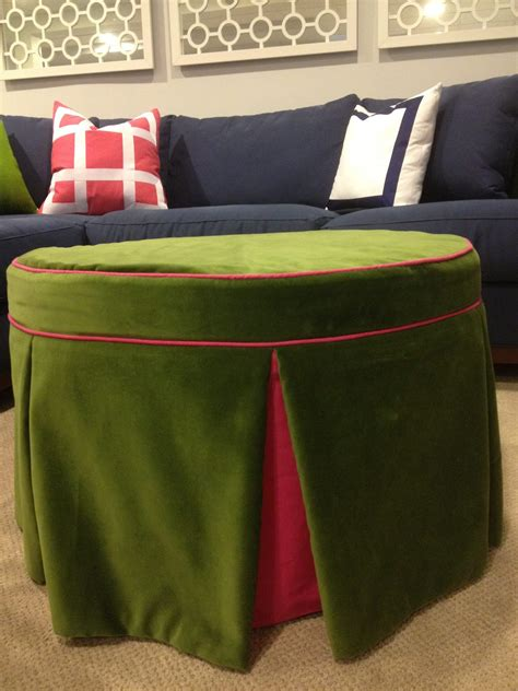 round ottoman diy the reveal client s den effortless style blog