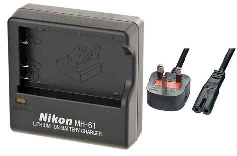 nikon mh 61 battery charger nikon mh 61 battery charger for the en el5 rechargeable