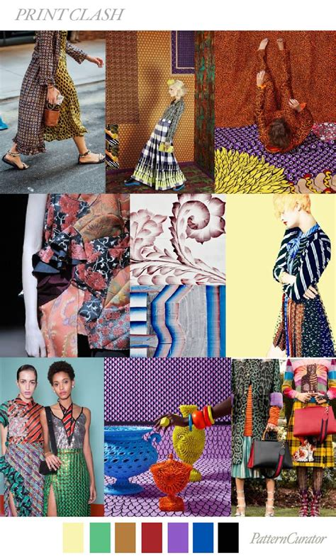 Color Pattern Fashion | trends pattern curator print clash ss 2018
