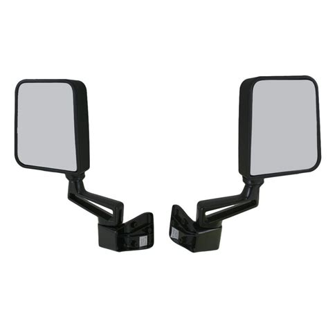 Jeep Wrangler Side Mirrors Doors by Black Manual Side View Door Mirrors Left Right Pair Set