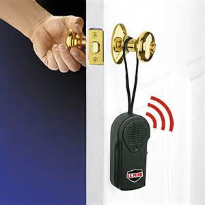watchdog door knob alarm hanging portable security system