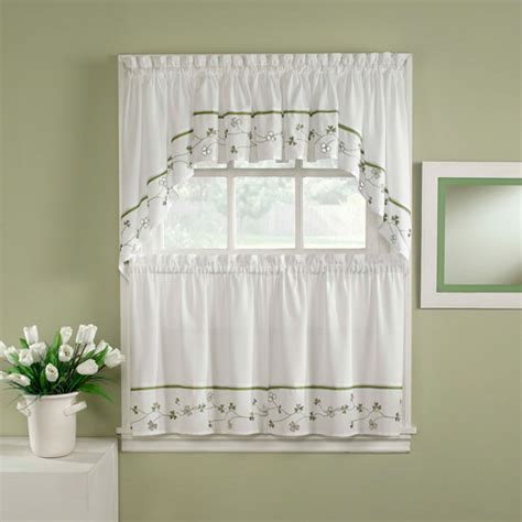 chf you clover tailored tier curtain panel set of 2