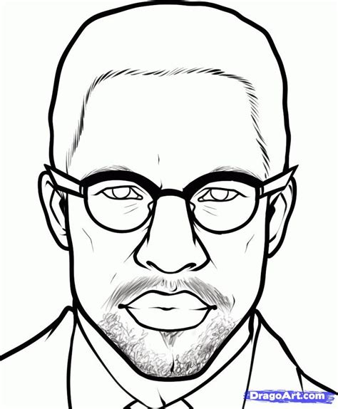 Coloring Page Of Malcolm X by Malcolm X Coloring Pages Az Coloring Pages