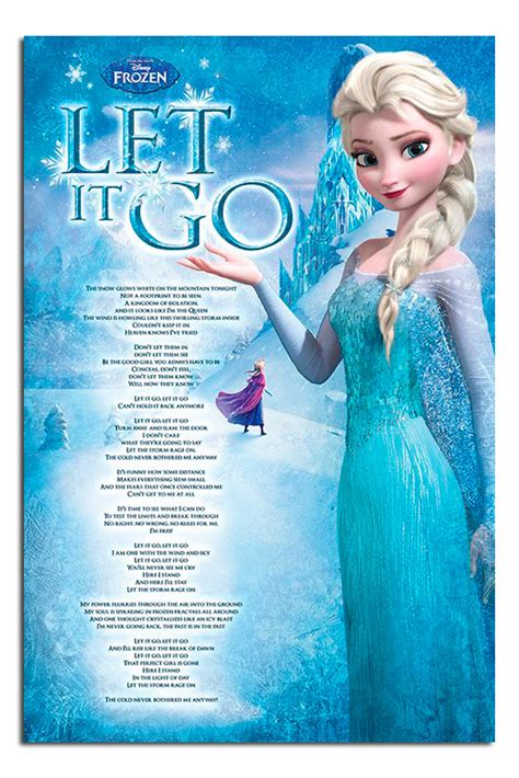 frozen film and songs frozen let it go full song lyrics poster new maxi size