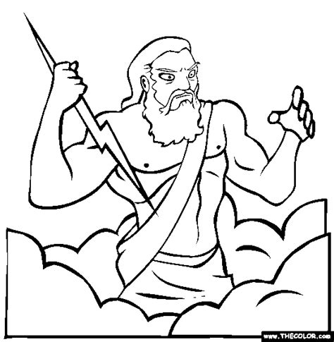 Zeus Coloring Pages mythology coloring pages page 1