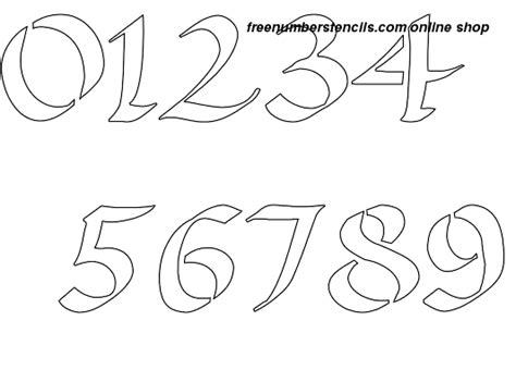 printable calligraphy number stencils 1 inch exquisite calligraphy calligraphy style number