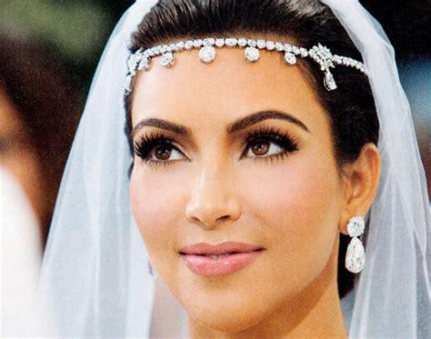 kim k wedding hair kim kardashian s wedding day makeup beautylish