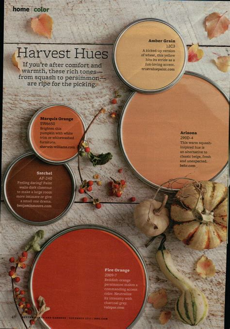 harvest colors harvest hues paint painting tips color ideas
