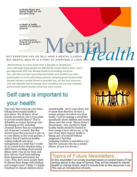 health and wellness newsletter template mental health newsletter by ilovekakashi28 on deviantart