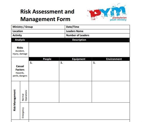forestry risk assessment template 100 risk assessment checklist template template grasp