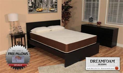dreamfoam bedding review dreamfoam bedding 10 inch memory foam mattress queen