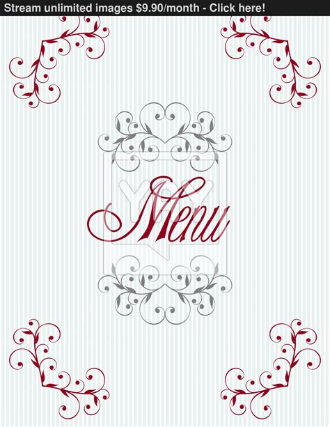 menu cover design vector vintage menu cover design template vector yayimages com