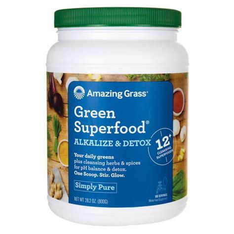 Alkalising Detox Diet by Amazing Grass Green Superfood Alkalize Detox 28 2 Oz