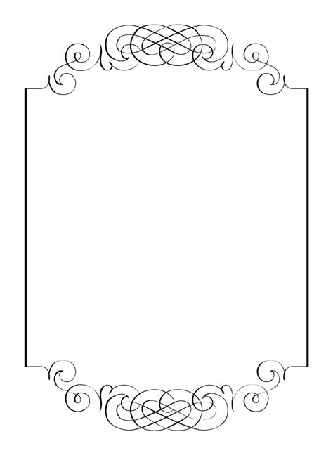 Free Vintage Clip Art Images Calligraphic Frames And Borders Border Template