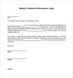 Authorization Letter For Child Medical Care Sample Medical Treatment Authorization Letter 9 Free
