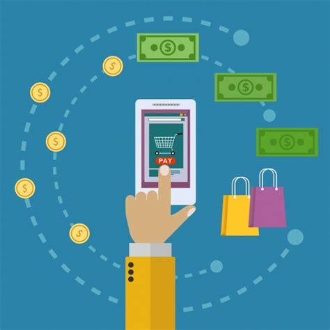 design background online online shopping background design vector free download