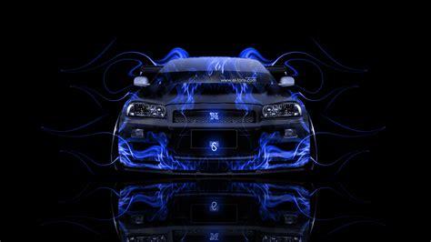 blue nissan gtr wallpaper nissan skyline gtr r34 front fire abstract car 2014 el tony