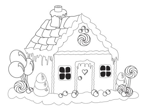 gingerbread house lollipop coloring pages gingerbread