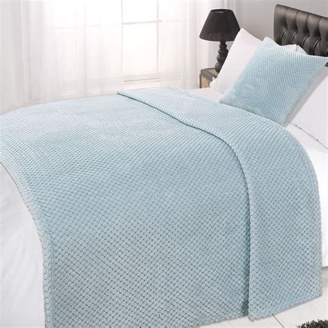 bed throw dreamscene luxury large waffle honeycomb mink warm throw