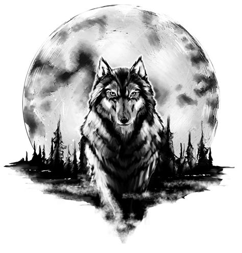 wolf and moon tattoo wolf images designs