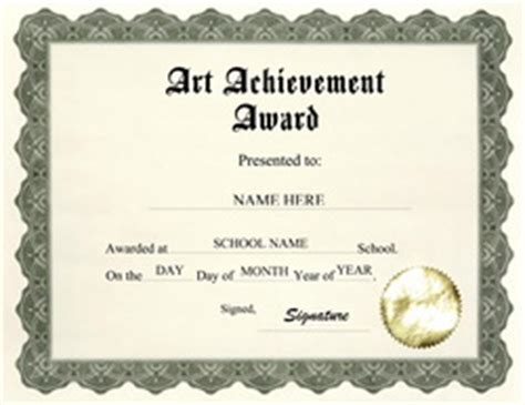 templates for art awards free templates for middle school award templates geographics