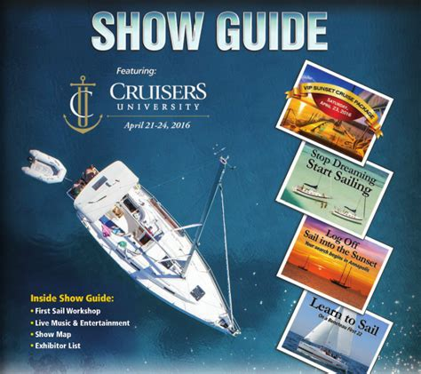 boat show guide 2016 show guide asss annapolis boat shows