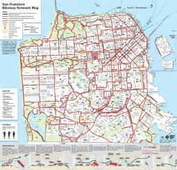 san francisco trolley map pdf san francisco bike network map sfmta