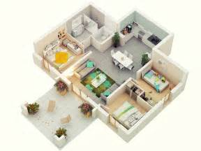 3 Bedroom Floor Plans 25 More 3 Bedroom 3d Floor Plans