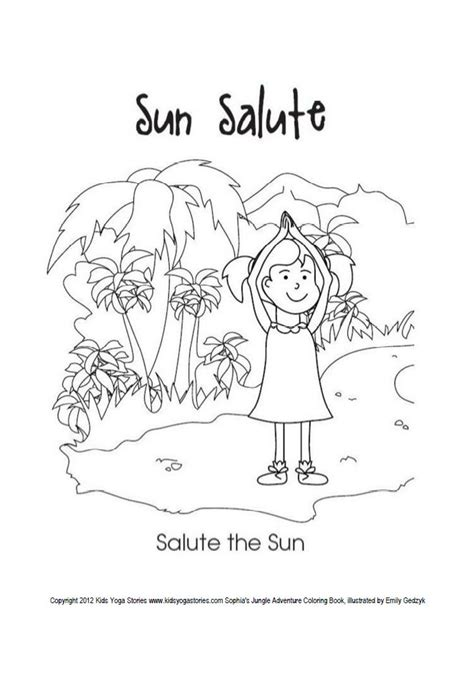 sun salutation coloring page colouring pages for mindfulness best coloring books for
