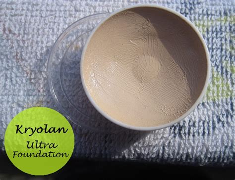 Kryolan Foundation Review kryolan ultra foundation swatches and review