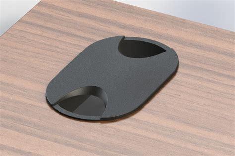 Cap Desk by Desk Table Grommet W Cap Pill Shaped 2 25 Quot Wide Step