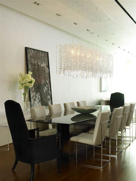 Modern Contemporary Dining Room Chandeliers | shoes on the ceiling the importance of the right chandelier
