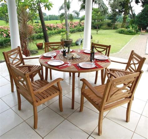 new teak wood table 6 chairs 7 outdoor dining