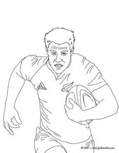 Coloriage Rugby Du Rugbyman Dan Carter Sketch Coloring Page sketch template