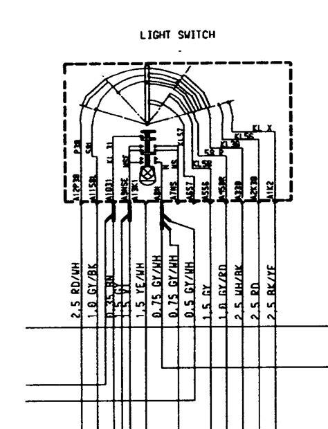 headlight switch plug wiring   rennlist