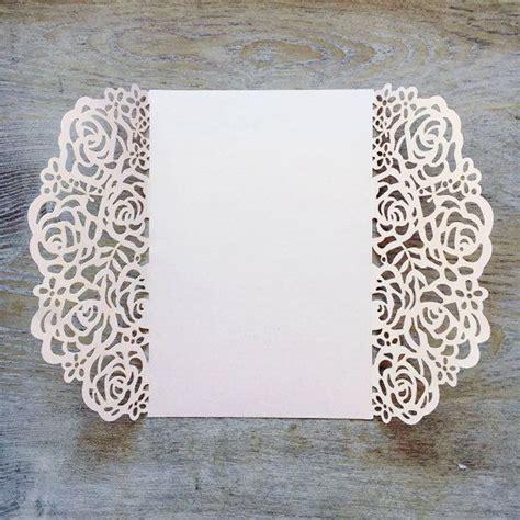 Laser Print Wedding Invitations by Diy Laser Cut Roses Gatefold Invitation Laser Cut