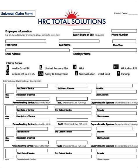 free claim forms