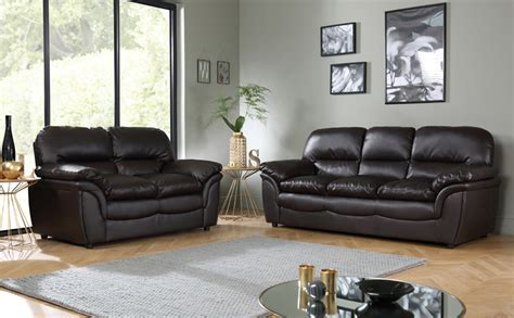 cheap settees uk rochester dark brown leather sofa suite 3 2 seater only 163