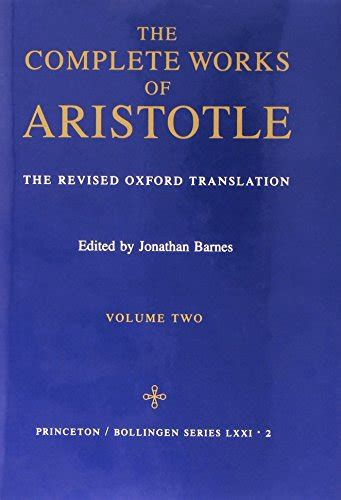 the complete works of aristotle the revised oxford translation one volume digital edition buy special books the complete works of aristotle the revised oxford translation vol 2