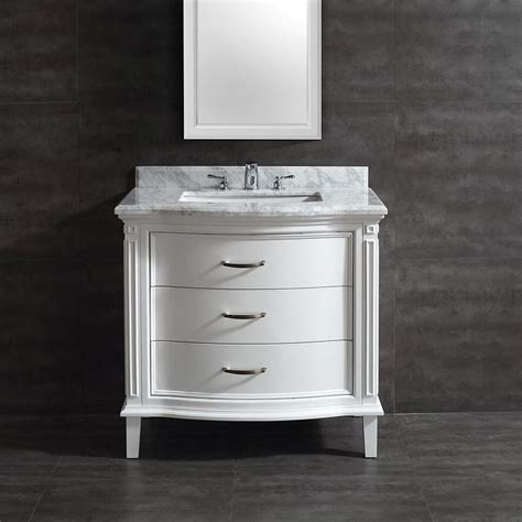 Shop Ove Decors Rachel White Undermount Single Sink Birch Marble Bathroom Vanity