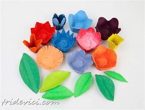Basteln Mit Eierkarton Blumen blumen aus eierkarton basteln dekoking diy bastelideen