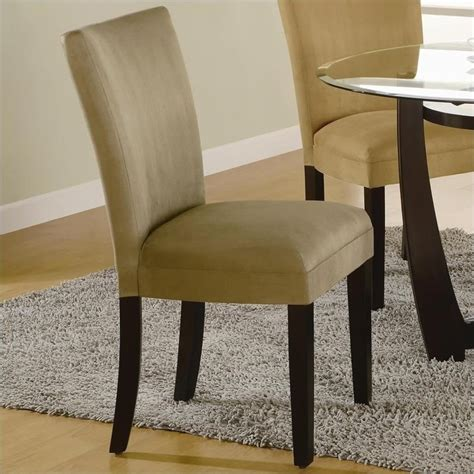 Fabric Parsons Dining Chairs Coaster Bloomfield Parson Dining Chair With Taupe Fabric 101494