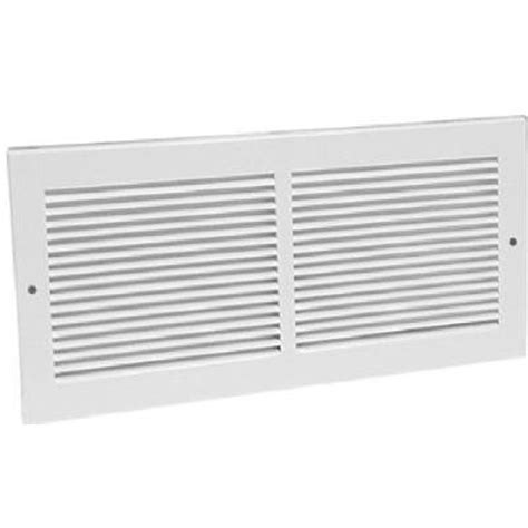 20 in x 8 in white return air grilletruaire 202529010