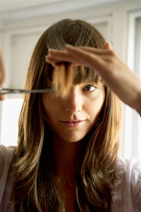 How To Trim Bangs At Home by How To Cut Layers Into Your Hair At Home Hairstyles